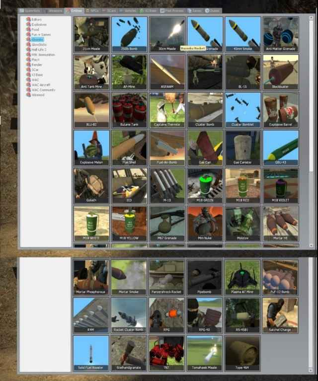 Мод Garrys mod 13 — GBombs 4