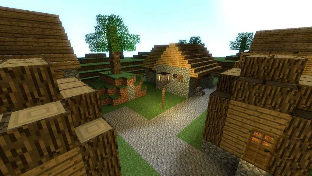 Мод Garrys mod 13 — Карта ttt_mcnpcvillage_2016 (Minecraft)