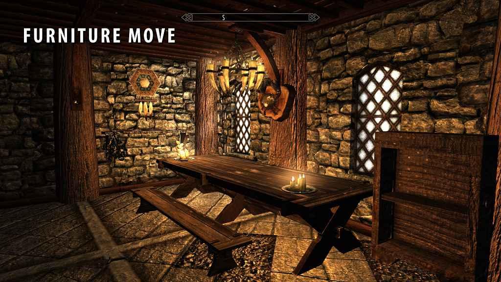 Skyrim — Мод позволяющий создавать / перемещать мебель
