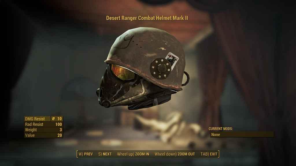 Мод Fallout 4 — Боевой шлем «Марк II»