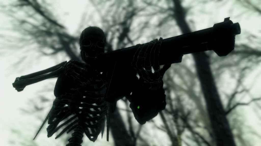 Мод Fallout 4 — Жутко страшные скелеты