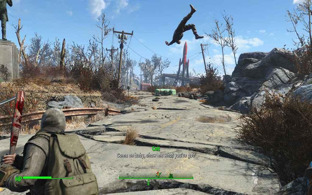 Fallout 4 — Мощнейшая бейсбольная бита