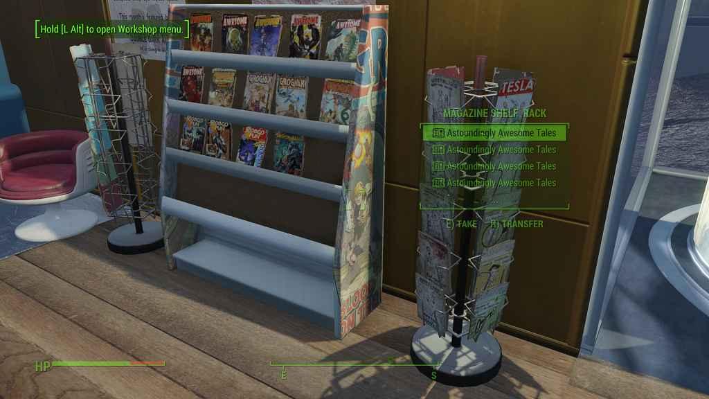 Мод Fallout 4 — Новые стойки для журналов