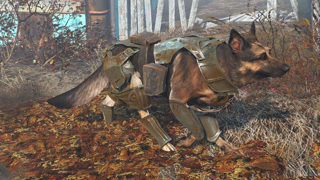 Мод Fallout 4 — Боевое снаряжения для собаки