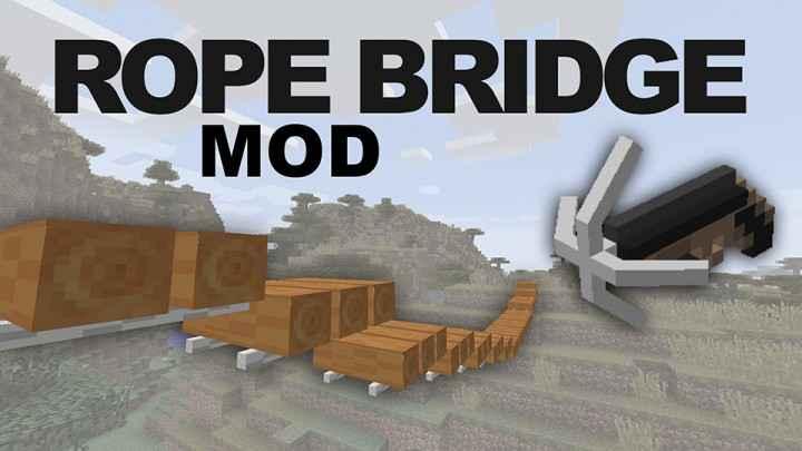 Мод Minecraft — Веревочный мост