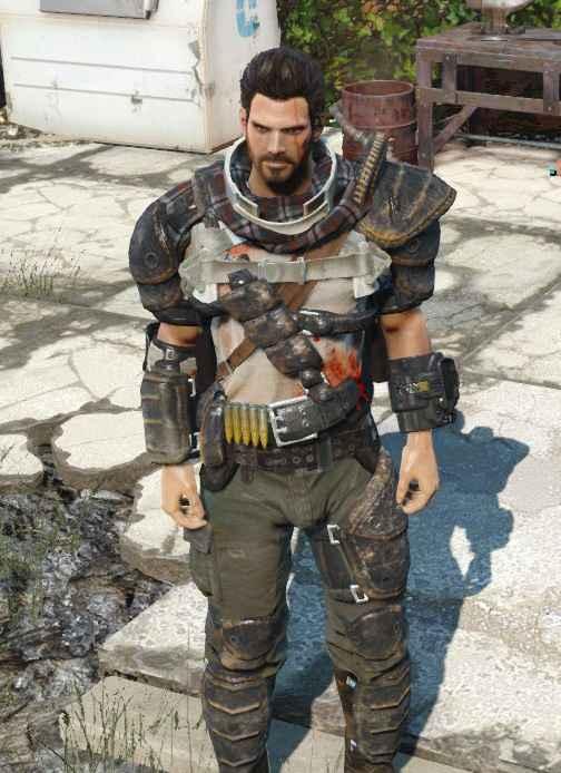 Fallout 4 — Мужественные кожаные доспехи