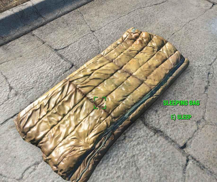 Мод Fallout 4 — Портативный спальный мешок