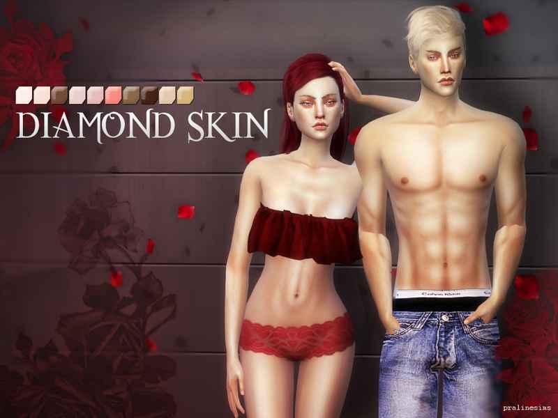 Мод Sims 4 — Недефолтный скинтон PS Diamond Skins