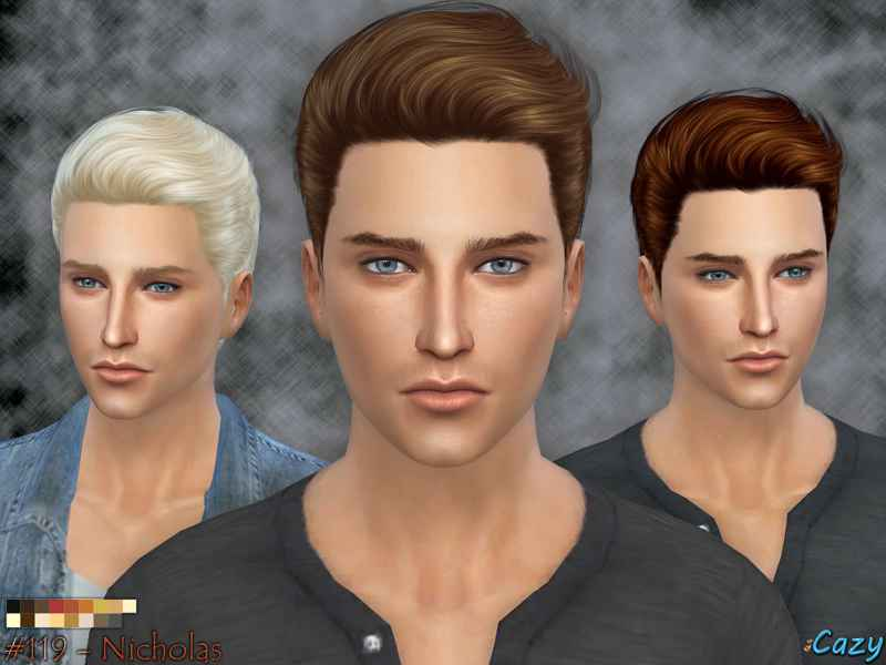 Мод Sims 4 — Стильная мужская прическа Nicholas Hairstyle