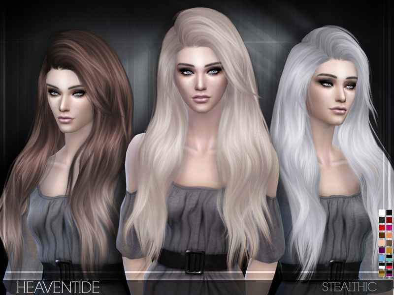 Sims 4 — Роскошная длинная прическа Stealthic — Heaventide