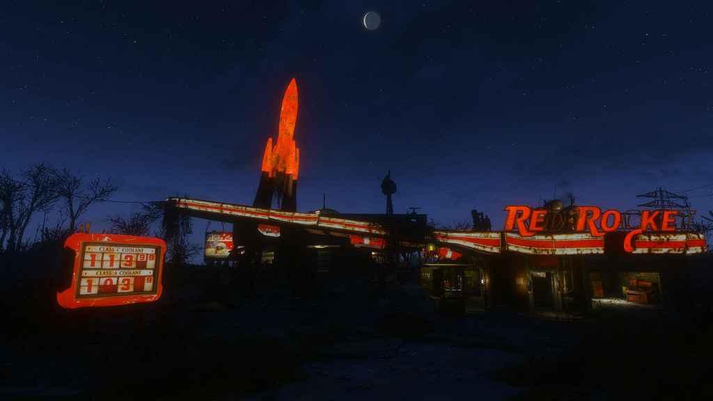 Мод Fallout 4 — Красная ракета — светящийся ретекстур