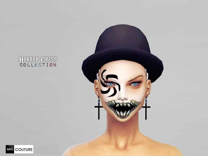 Sims 4 — Жуткая маска для лица HC Horror Face Paint