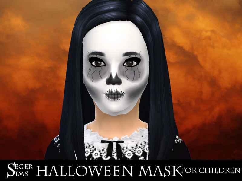 Модификация Sims 4 — Детская маска на Хэллоуин