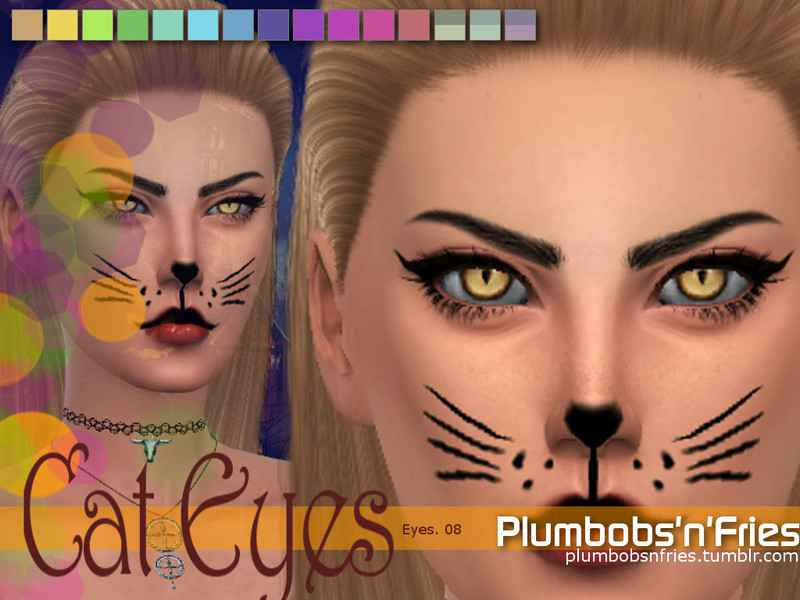 Мод Sims 4 — Кошачьи глаза