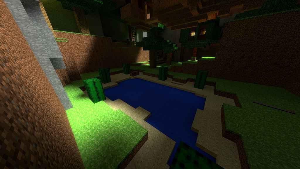 Мод Garrys mod 13 — Карта zs_minecraft_oasis