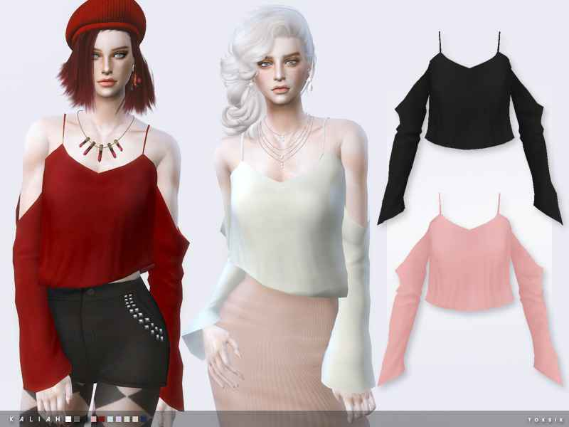 Модификация Sims 4 — Стильный топ toksik- Kaliah