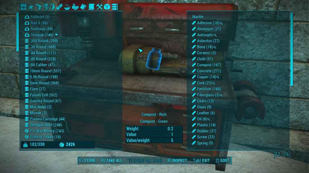 Мод Fallout 4 — Настраиваемый HUD и интерфейс инвентаря