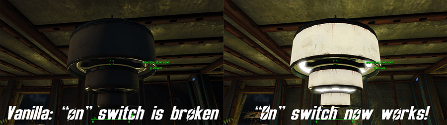 Мод Fallout 4 — Улучшенные высокотехнологичные светильники