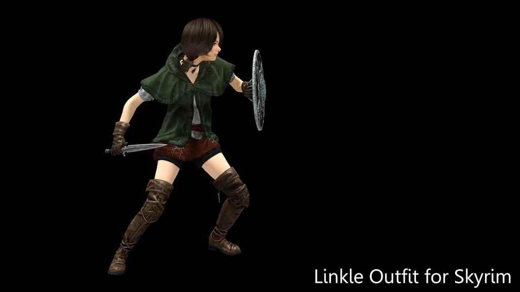 Мод Skyrim — Наряд Линкли из Hyrule Warriors Legends (UNP)
