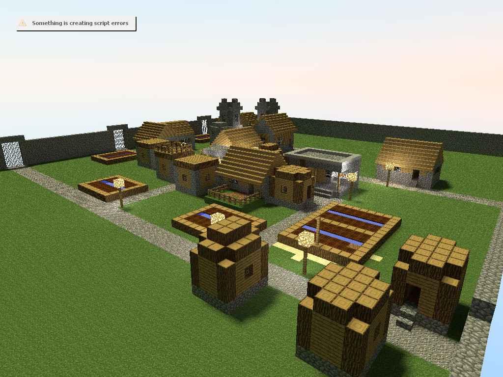 Garrys mod 13 — Карта gm_minecraft_village