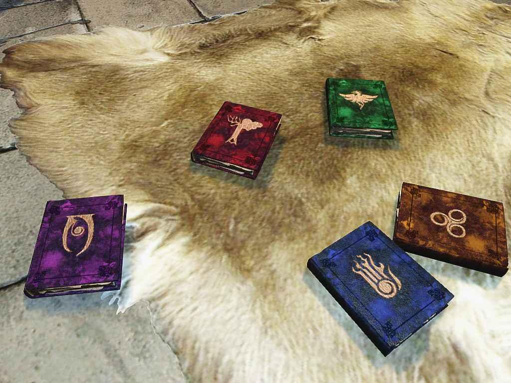 Мод Skyrim — Ретекстур томов заклинаний