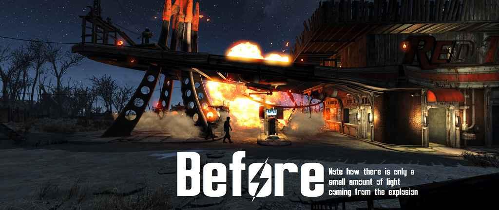 Мод Fallout 4 — Улучшенный ядерный взрыв