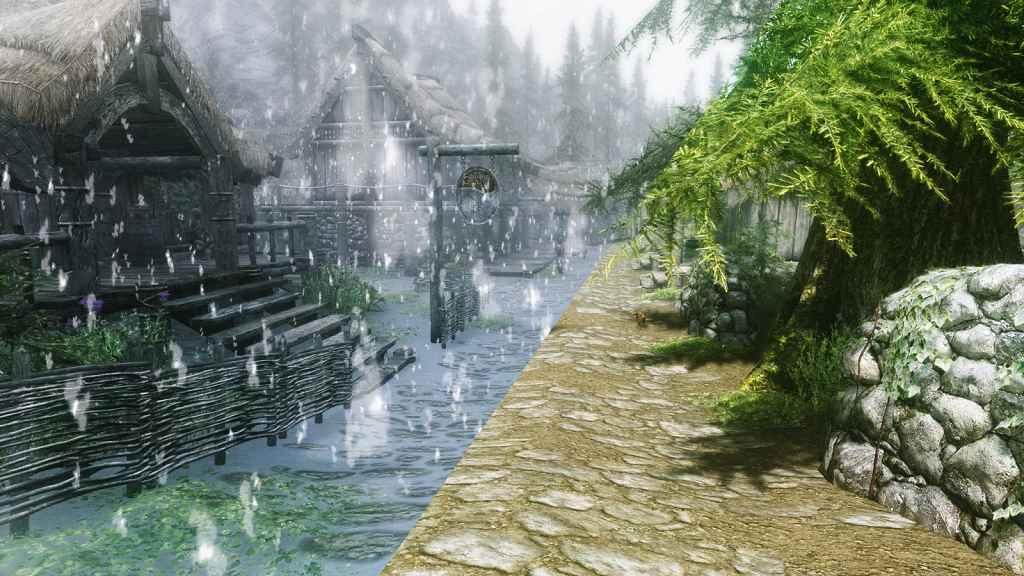 Skyrim — Улучшенный снег (динамическая погода)