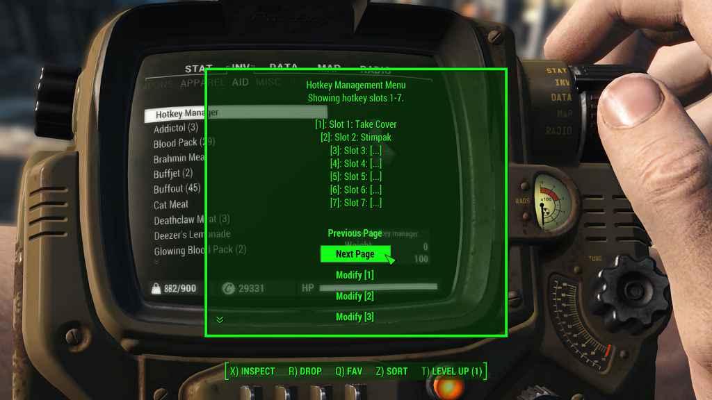 Мод Fallout 4 — Менеджер горячих клавиш