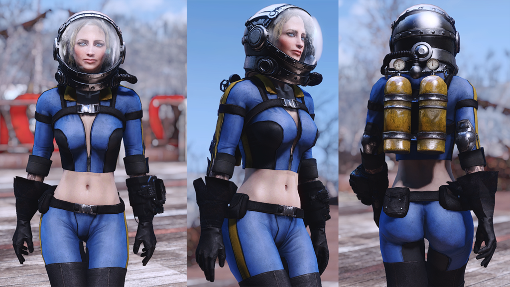 Fallout 4 — Экипировка и оружие Ядер-Кола (CBBE)