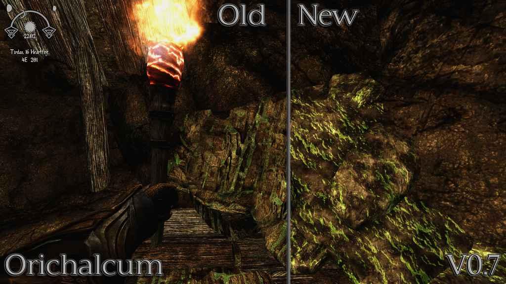 Мод Skyrim — Улучшенные текстуры руды
