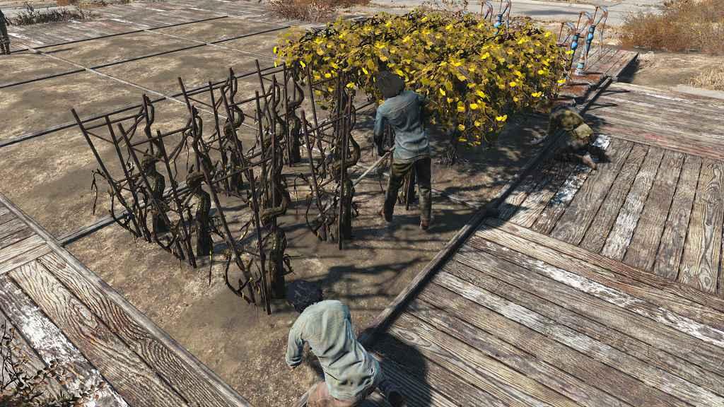 Мод Fallout 4 — Фикс коллизии земляных участков (Wasteland Workshop)