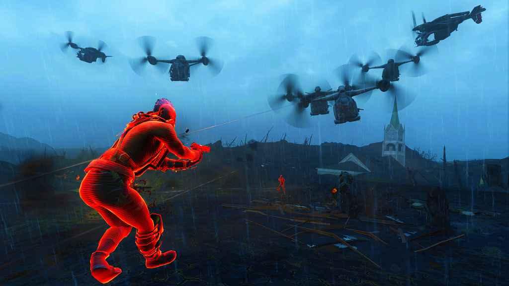 Мод Fallout 4 — Граната «Поддержка с воздуха»