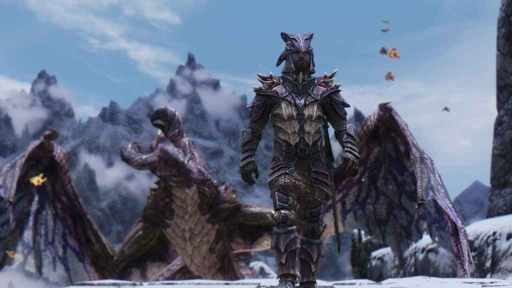 Мод Skyrim — 8 новых драконьих чешуйчатых сетов