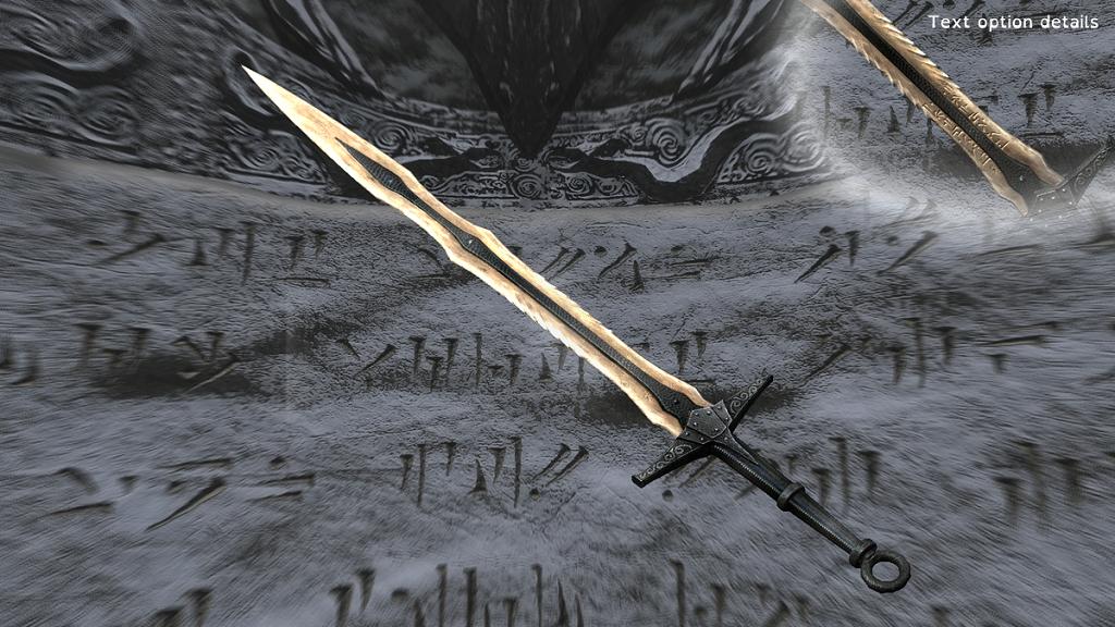 Мод Skyrim — Ретекстур драконьего оружия