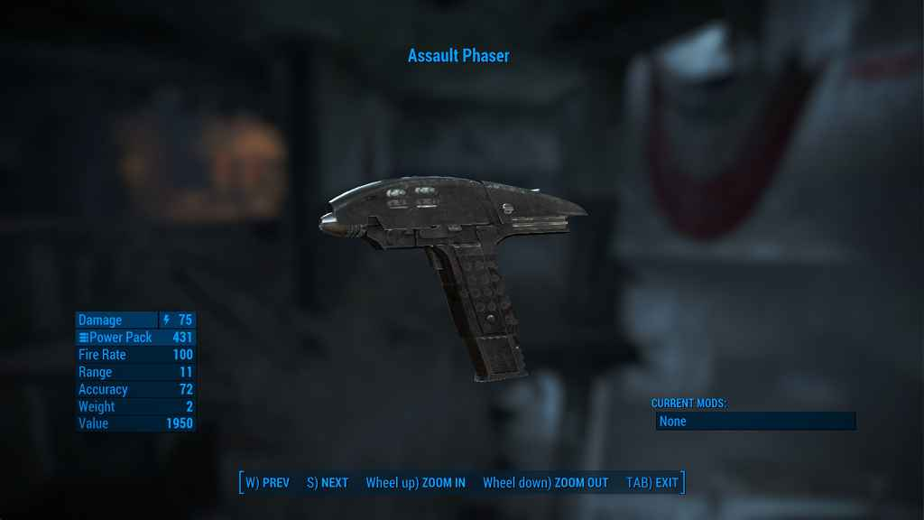 Fallout 4 — Штурмовой Фазер из Звездного пути