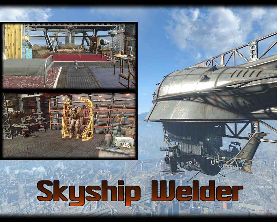 Мод Fallout 4 — Летающее судно «Сварщик»
