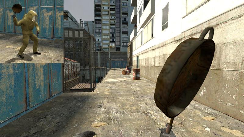Мод Garrys mod 13 — Оружие ближнего боя из Half-Life 2