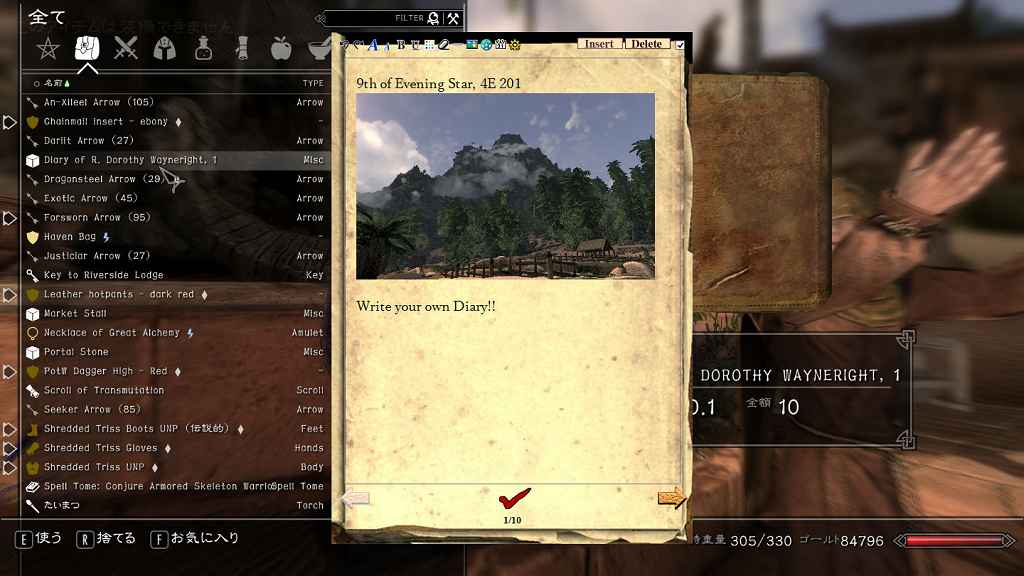 Мод Skyrim — Дневник приключений