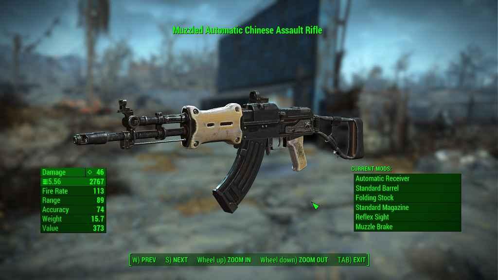 Мод Fallout 4 — Китайская штурмовая винтовка