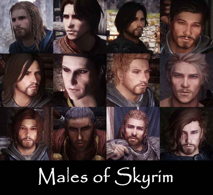 Мод Skyrim — Реплейсер внешности для мужчин