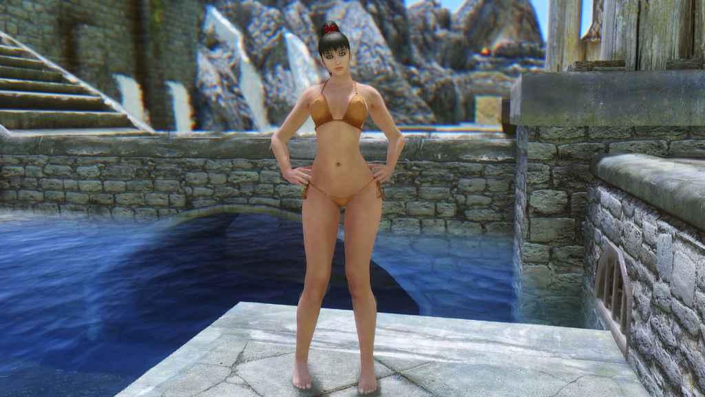 Мод Skyrim — Кожаное бикини (UNPB-TBBP)