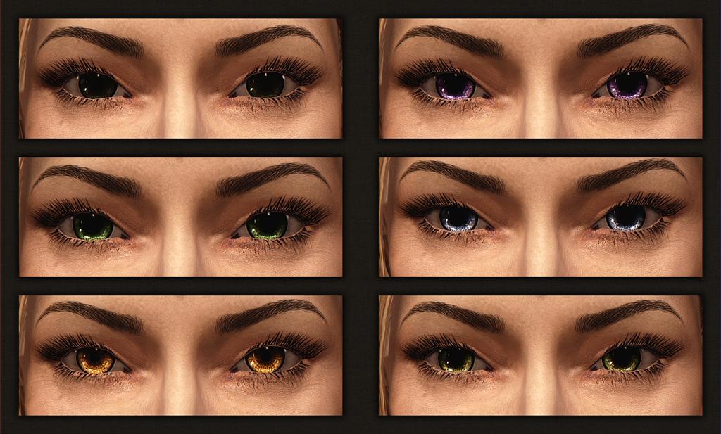 Мод Skyrim — 50 новых глаз для людей
