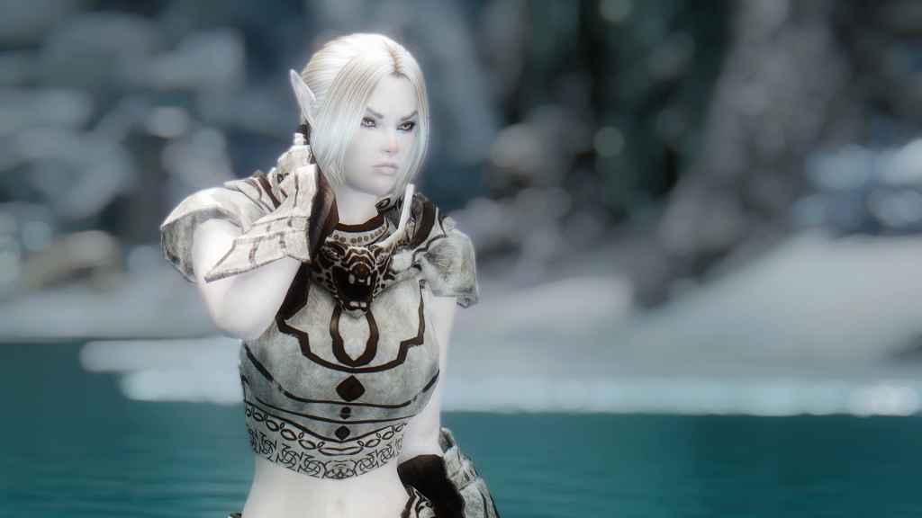 Мод Skyrim — Снежная Эльфийка Мириэль