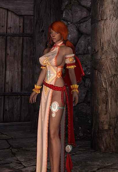 Мод Skyrim — Два платья с физикой