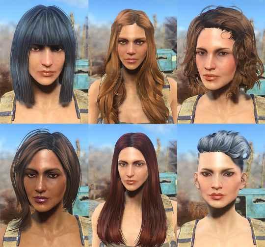 Мод Fallout 4 — 47 новых причесок для девушек и мужчин