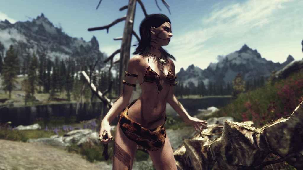 Мод Skyrim — Броня дикой охотницы (UNP / CBBE)