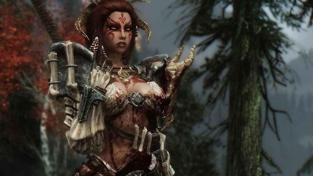 Мод Skyrim — Драконья варварская броня