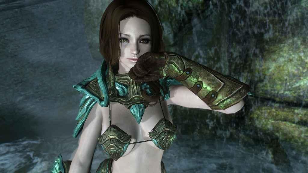Мод Skyrim — Стеклянная броня-бикини (CBBE / UNP)