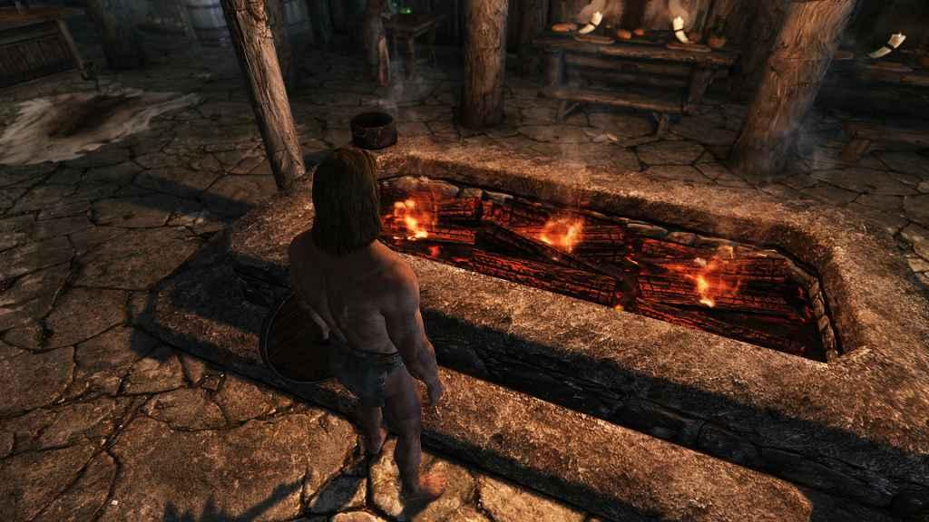 Мод Skyrim — Новые текстуры горящих дров