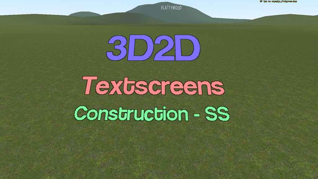 Мод Garry's Mod 13 — 3D Текст